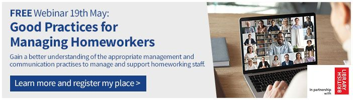 Free webinar - Good practices for managing homeworkers banner